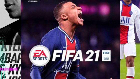 fifa 21 cover kylian mbappe