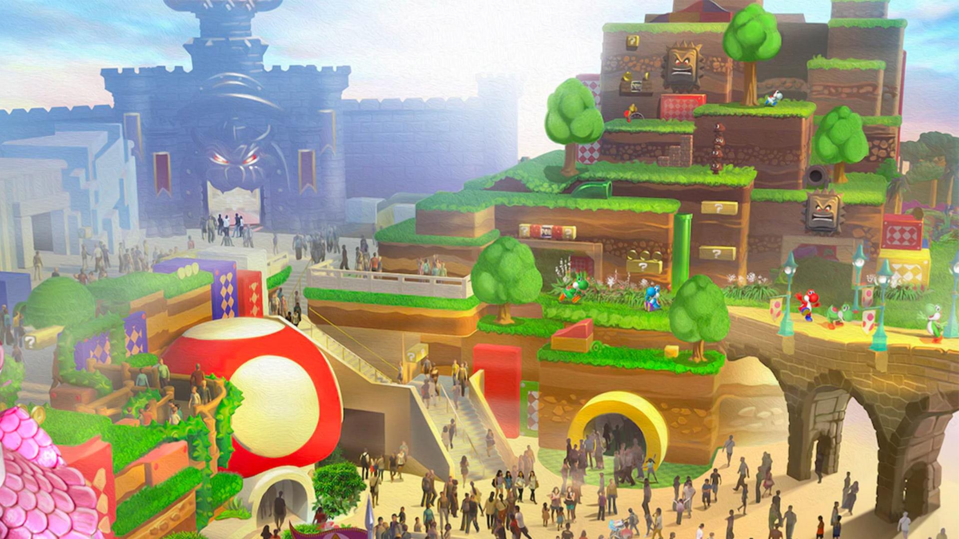 Super Nintendo World fast fertig