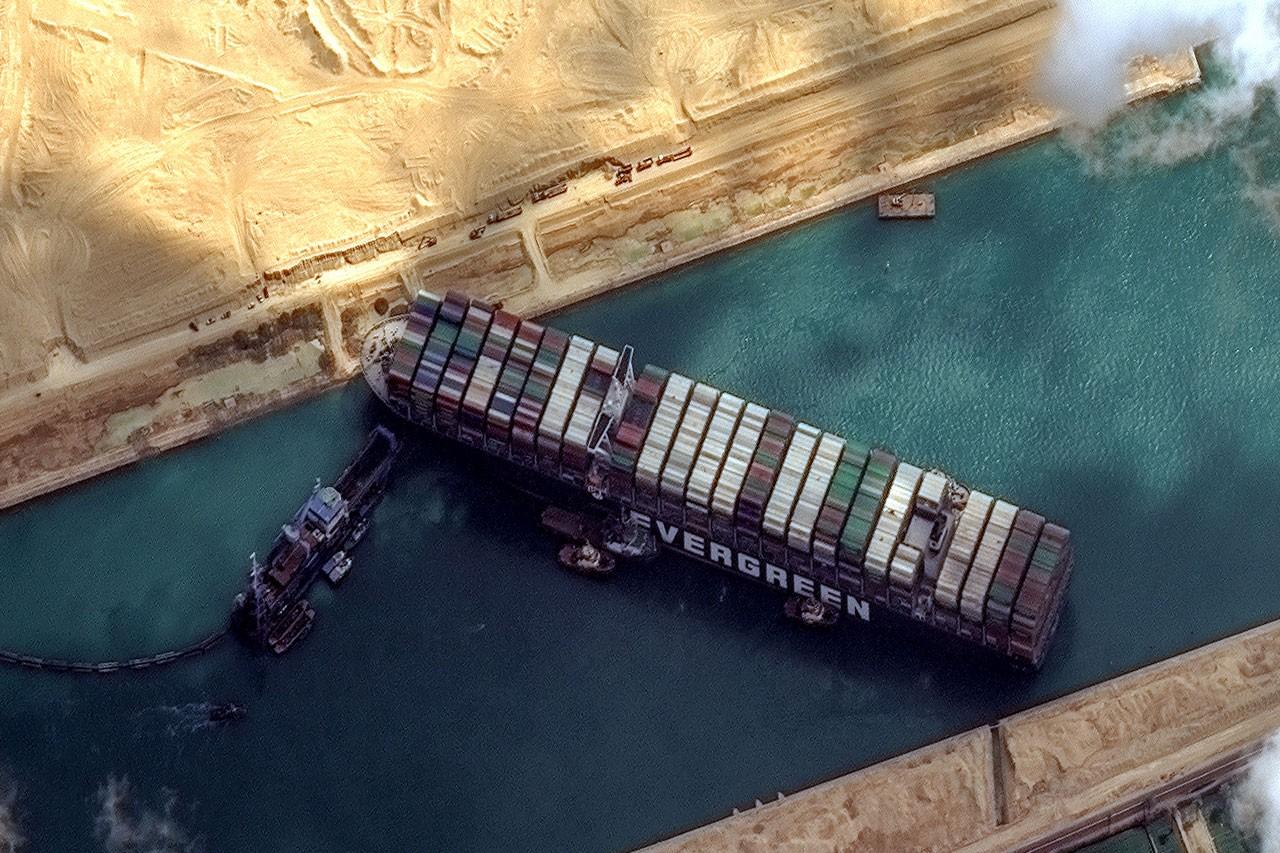 Ever Given Schiff Suezkanal