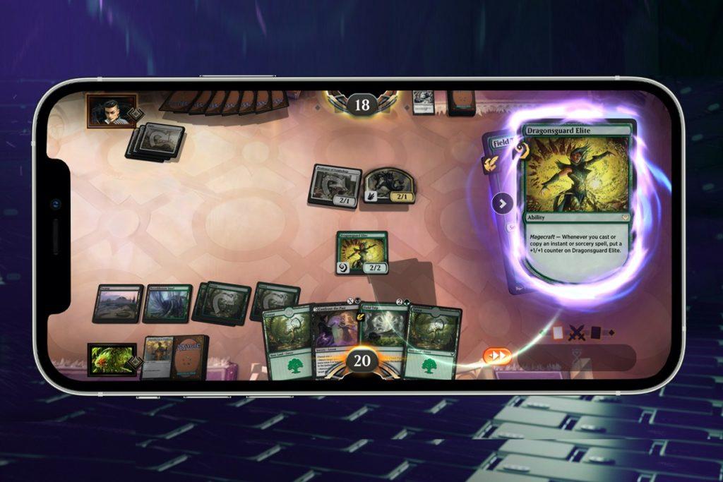 So sieht das Interface von Magic: The Gathering Arena aus.